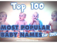 Top 100 Most Popular Names 2013: New Number 1 is Noah