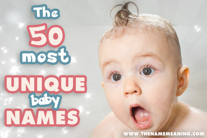 50 most unique baby names
