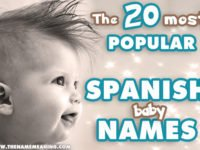 Top 20 most Popular Spanish Names