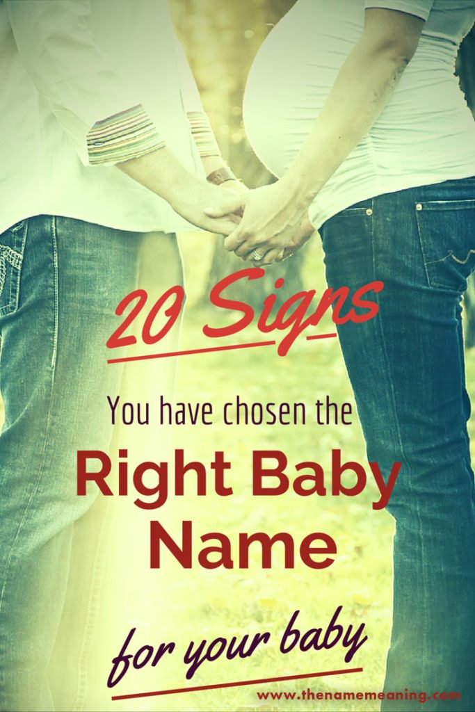 20 signs you chose the right baby name