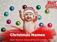 Christmas Names – Baby names Inspired by Christmas