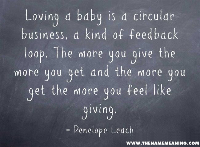 baby quote - Loving a baby is a circular business, a kind of feedback loop. The more you give the more you get and the more you get the more you feel like giving.