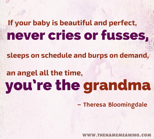 Baby Quote For Grandmother
