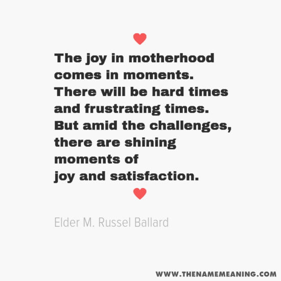 The joy in motherhood comes in moments. There will be hard times and frustrating times. But amid the challenges, there are shining moments of joy and satisfaction.