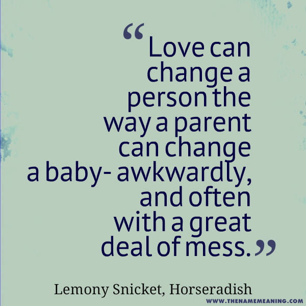Baby Quotes: Love Can Change A Person The Way A Parent Can Change A Baby- Awkwardly, And Often With A Great Deal Of Mess.