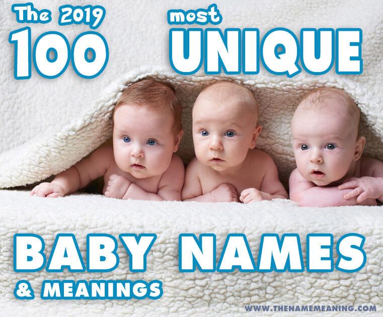 Unique Baby Names 2019- 100 unique names