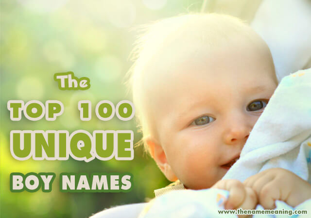 The 100 most unique boy names 2019