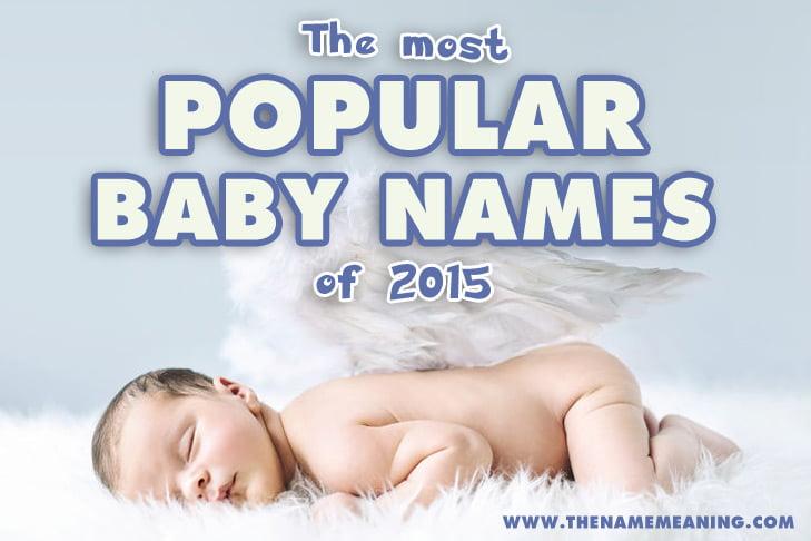 Top baby names 2015