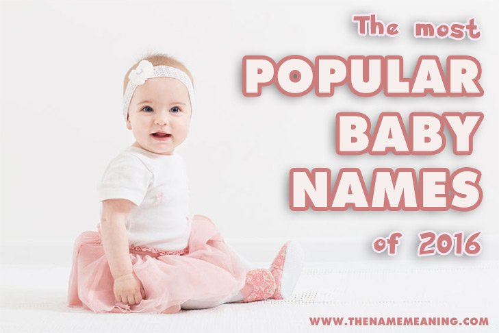 Top baby names 2016