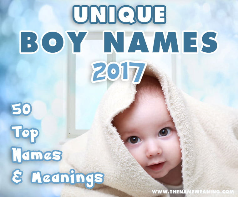 50 Unique boy names with meanings for your baby.