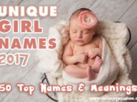 The 50 Most Unique Girl Names 2017